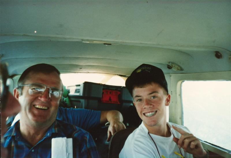 Flying to a fishing spot in Idaho - 1990